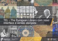 TEL - The European Library com novo interface e versão alargada.